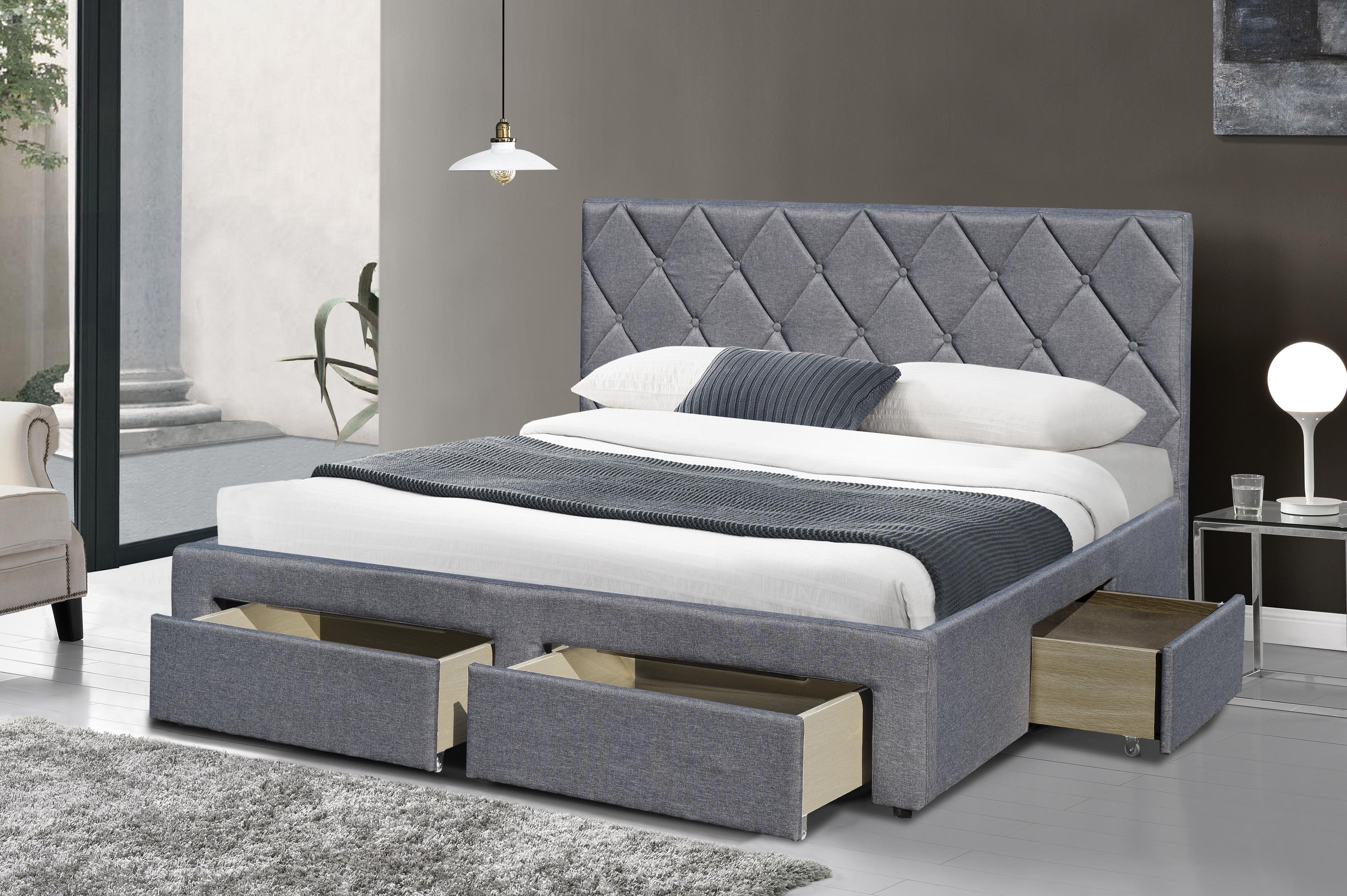 63d334604af Тапицирано легло BETINA 160:Леглото е с четири чекмеджета и с включена в  цената подматрачна